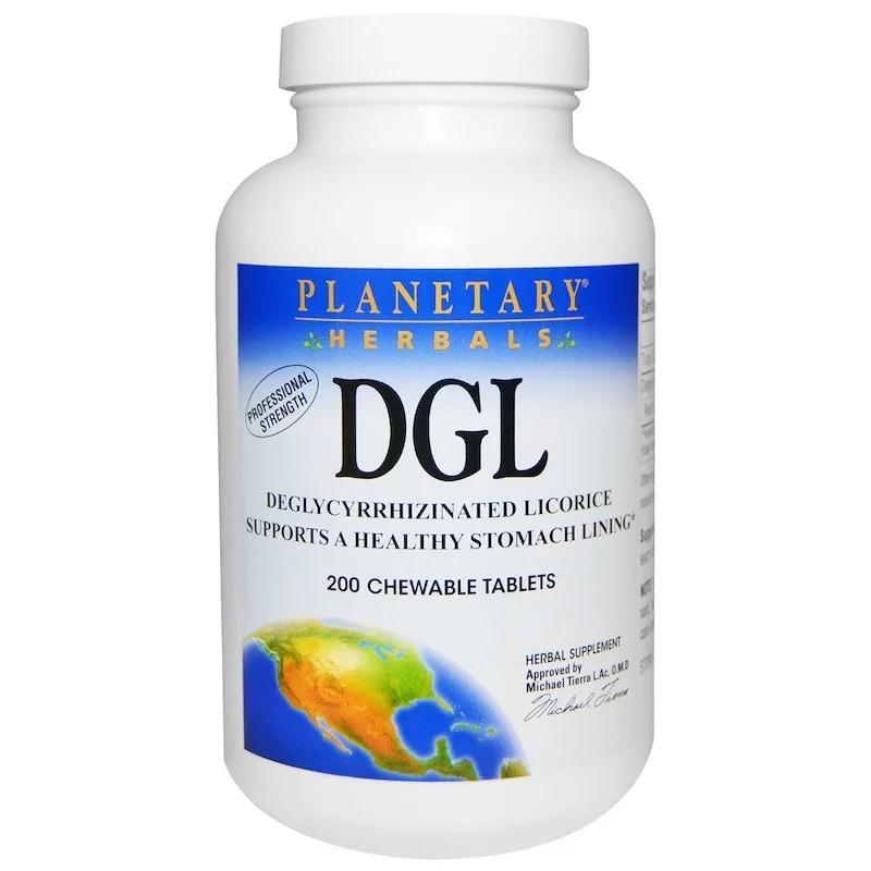 Planetary Herbals, DGL, глицирризинат солодки, 200 жевательных таблеток