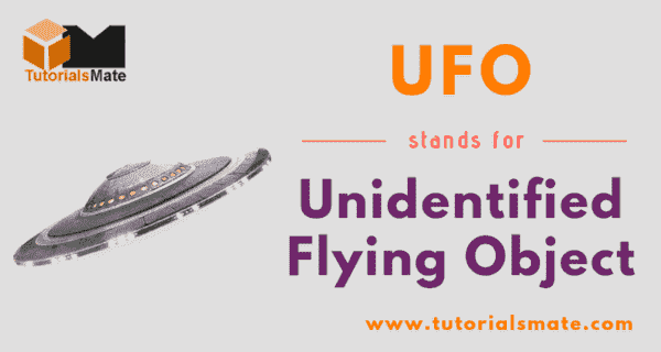 UFO Full Form