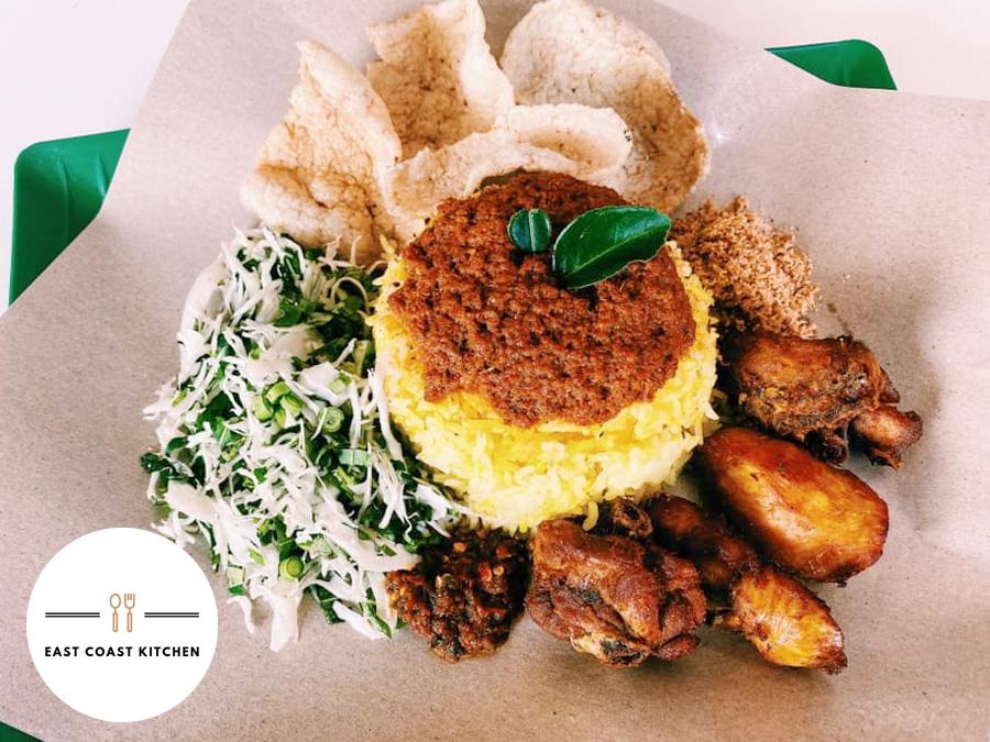 Nasi Kerabu Kuning Tumis Sedap Skudai di East Coast Kitchen, U-Mall, Taman Pulai Utama
