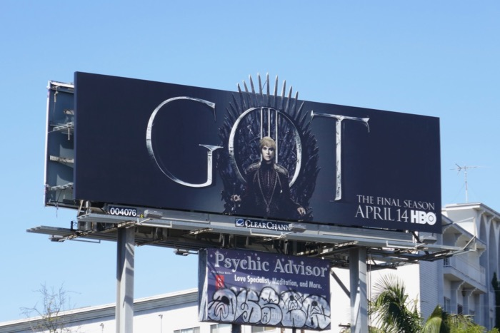 Game of Thrones final season Cersei billboard