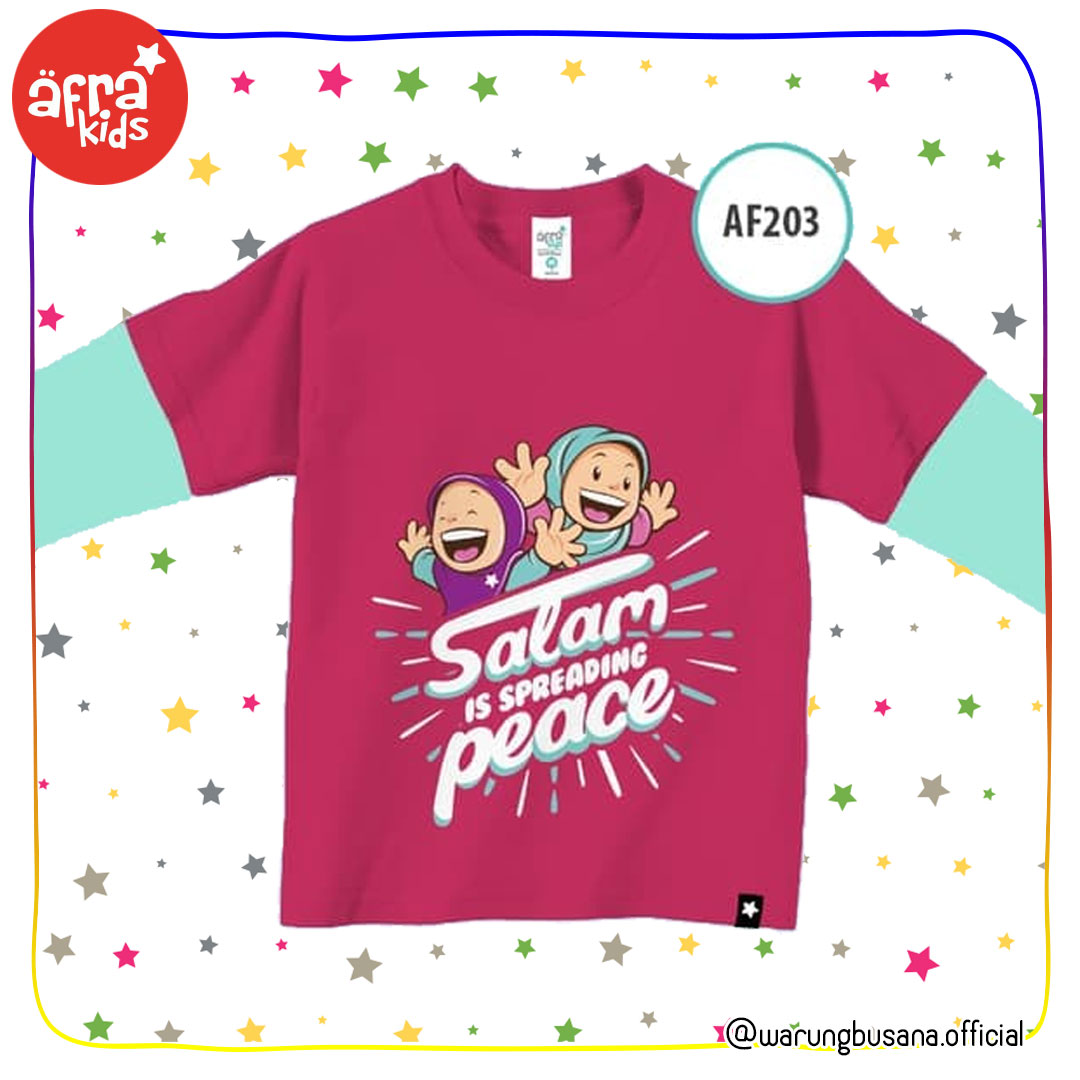 Afrakids Kaos Anak AF203 Salam is Spreading Peace