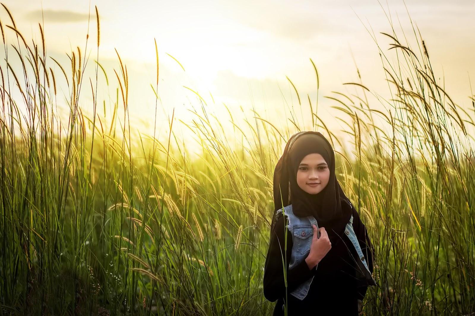 tips mengatasi backlight cara memfoto matahari cewek igo hijab hitam manis dan seksi manis