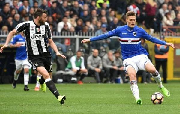 Patrik Schick saat melawan Juventus