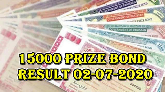 15000 prize bond result 02-07-2020
