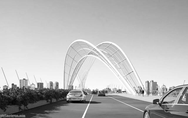 Phương án thiết kế kiến trúc công trình cầu Thủ Thiêm 4