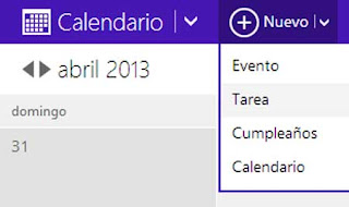 nuevo evento calendario outlook