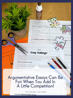 Give your middle school students this essay challenge with a reward and they will WANT to practice essay writing!  #teaching #ideas