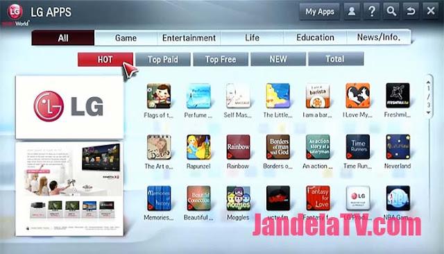 cara download aplikasi di smart tv lg