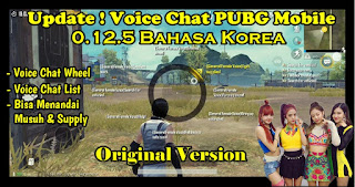 Cara Mengubah Voice Chat PUBG Mobile Global 0.13.0 ke Bahasa Korea Original Version