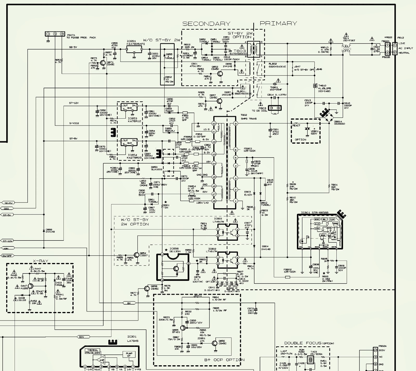 lg crt tv block diagram