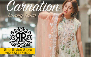 Carnation Embroidered Lawn 2017-2018