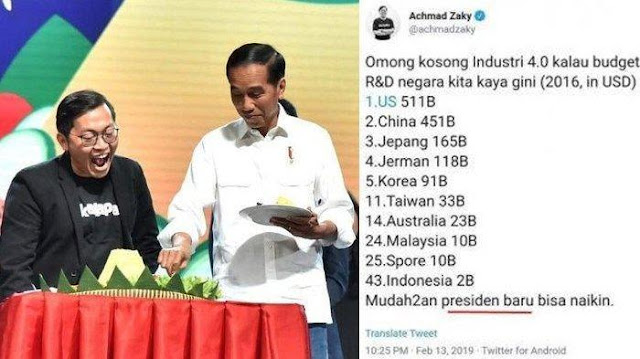 Termehek-mehek CEO Bukalapak Minta Maaf Pakai Data Lama 'Serang' Jokowi, Komentar Netizen Menohok....