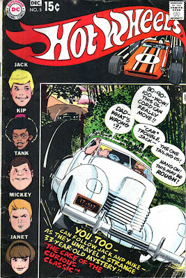 Hot Wheels v1 #5 dc 1970s bronze age comic book cover art by Alex Toth