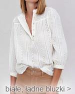 białe eleganckie bluzki bawełniane