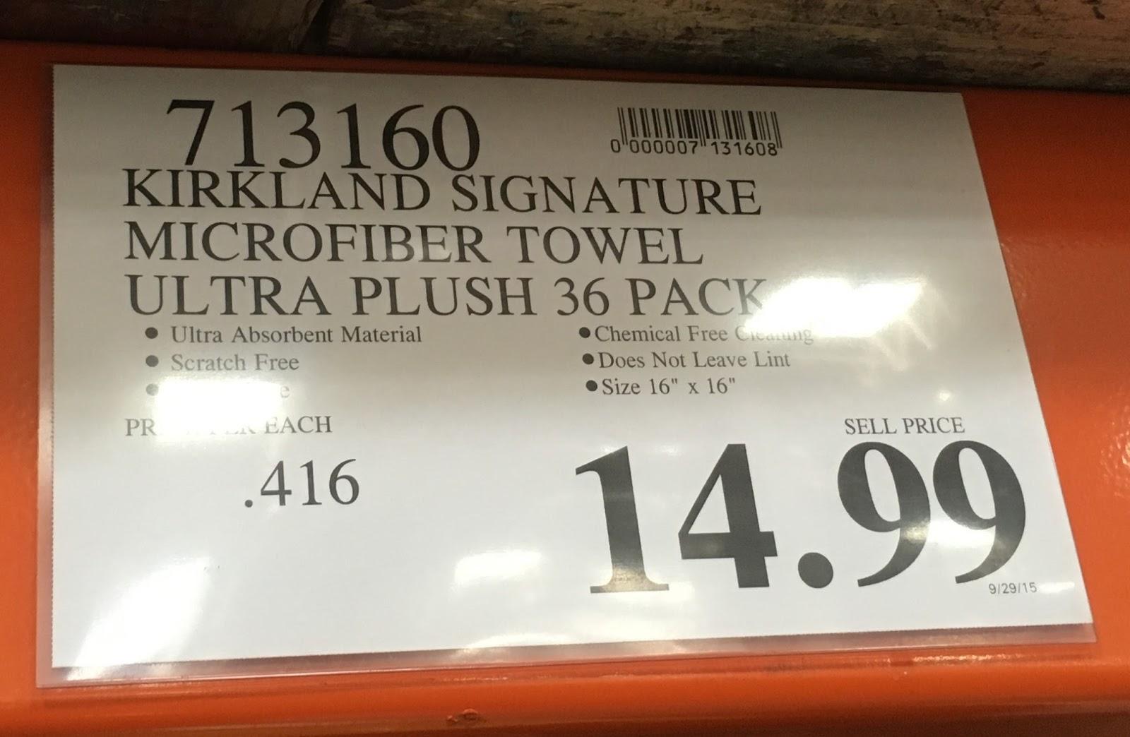 Kirkland Ultra Plush Microfibre Towels Costco Weekender