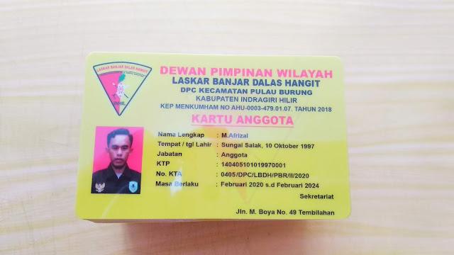Kartu Anggota Laskar Banjar Hangit