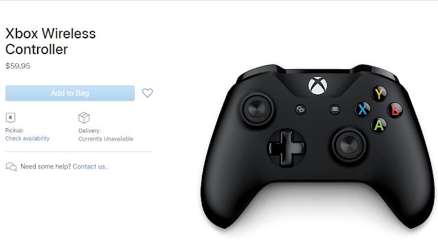 آبل تبيع الآن جهاز التحكم اللاسلكي Xbox في متجرها على الإنترنت