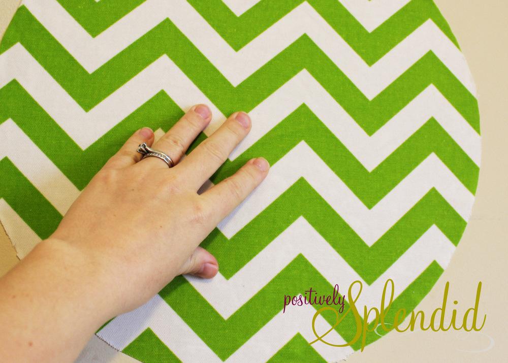 Custom Fabric Wall Decal Tutorial - Positively Splendid ...