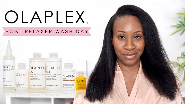 Post Relaxer Wash Day - Ft. Olaplex No. 0,3,4,5,6,7 | Relaxed Hair