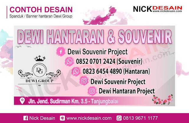 Contoh Desain banner Spanduk Hantaran Pink