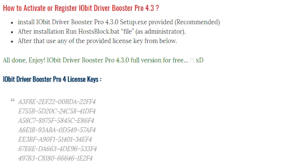 Driver booster pro license code