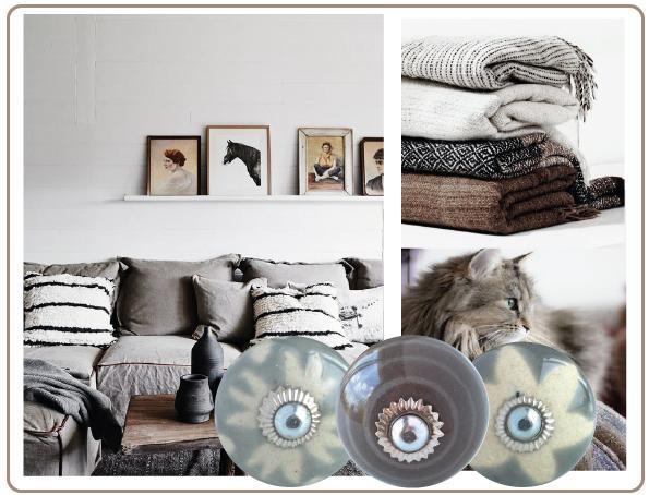 boutons de meubles taupe