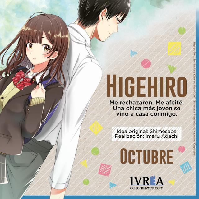 Ivrea publicará HIGEHIRO (Hige wo Soru. Soshite Joshi Kousei wo Hirou.)