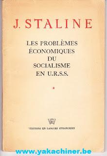 J.Staline, les problèmes économiques du socialisme en U.R.S.S