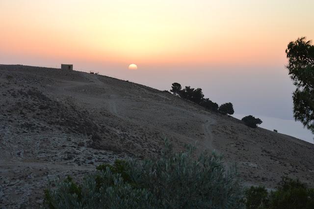 Coucher de soleil au Mont Nébo