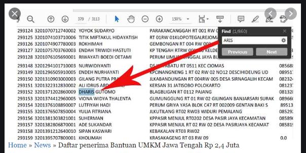 Nama Penerima Blt Umkm Rp 2 4 Juta Dari Pemerintah Lengkap Se Indonesia Segera Cek Nama Anda Di Link Disini