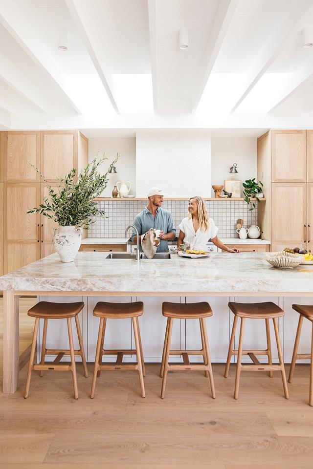 Kyal and Kara in their kitchen