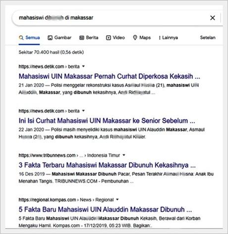 Mahasiswi dibunuh di Makassar