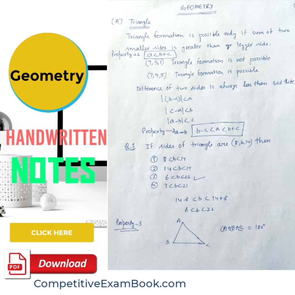 Download Geometry Handbook PDF for Competitive Exams - ssc notes