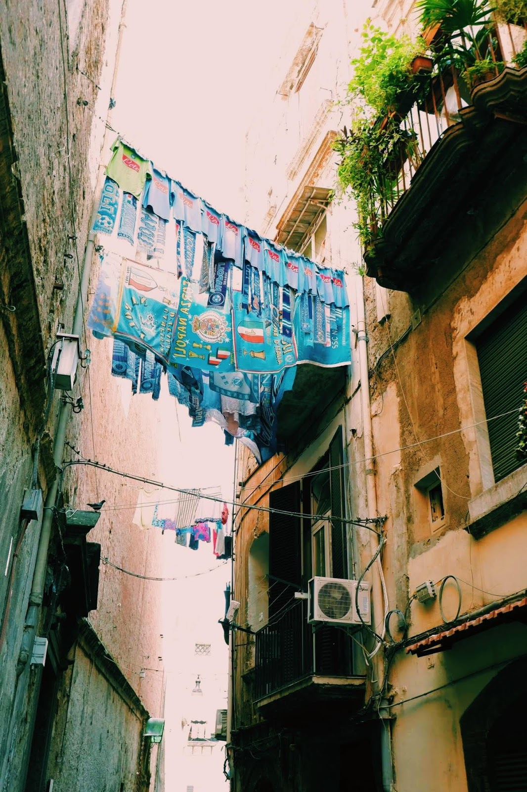 Streets in Naples, the historic quarter
