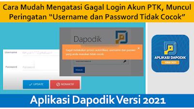 gagal login akun ptk