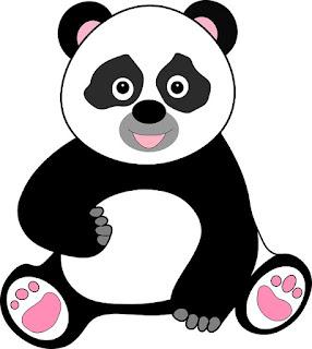 Gambar hewan kartun hitam putih