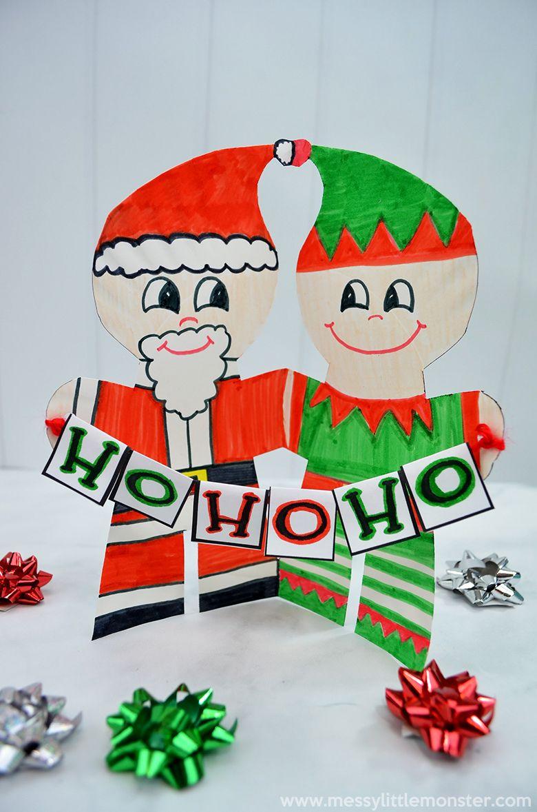 Santa and elf paper plate craft