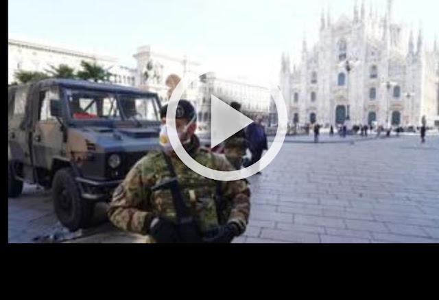 مباشر بالفيديو : من مناطق العزل الصحي بسبب فيروس كورونا  شمال إيطاليا. شوارع فارغة وحياة متوقفة