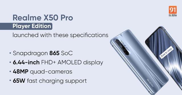 Ponsel Gaming realme X50 Pro Player resmi meluncur