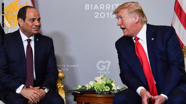 السيسي في اتصال هاتفي مع ترامب: يجب وضع حد للتدخلات الخارجية في ليبيا