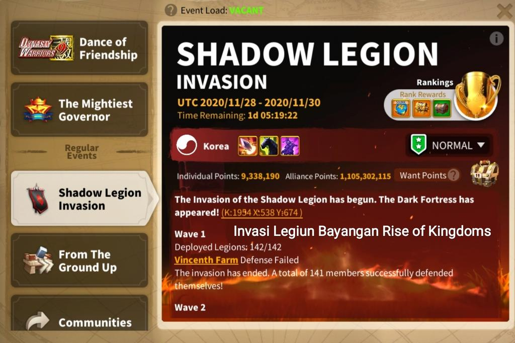 shadow legion invasion rok