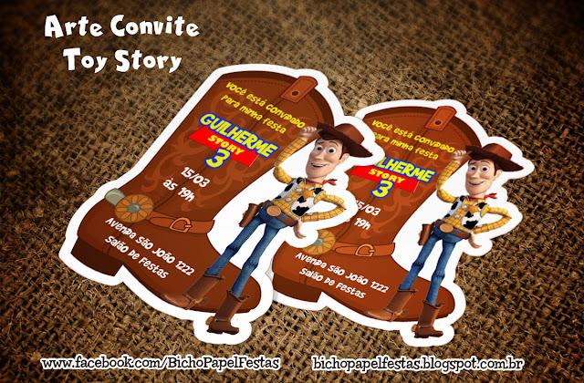 Arte Convite Toy Story