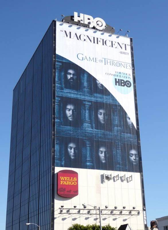 Game of Thrones Golden Globes consideration billboard