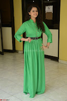 Geethanjali in Green Dress at Mixture Potlam Movie Pressmeet March 2017 079.JPG