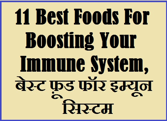 11 Best Foods For Boosting Your Immune System, बेस्ट फ़ूड फॉर इम्यून सिस्टम