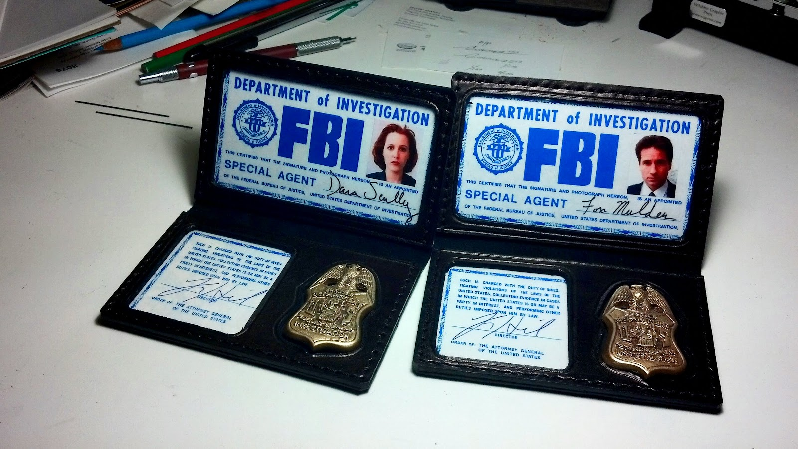 X-Files Replica Prop Badges