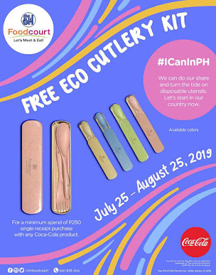 GO ECO WITH SM FOODCOURT'S FREE CUTLERY KIT