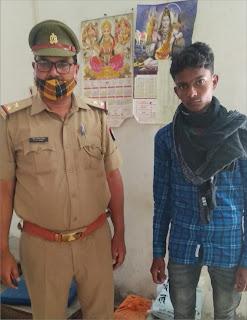हत्यारोपी फरार युवक चढ़ा पुलिस के हत्थे | #NayaSaberaNetwork