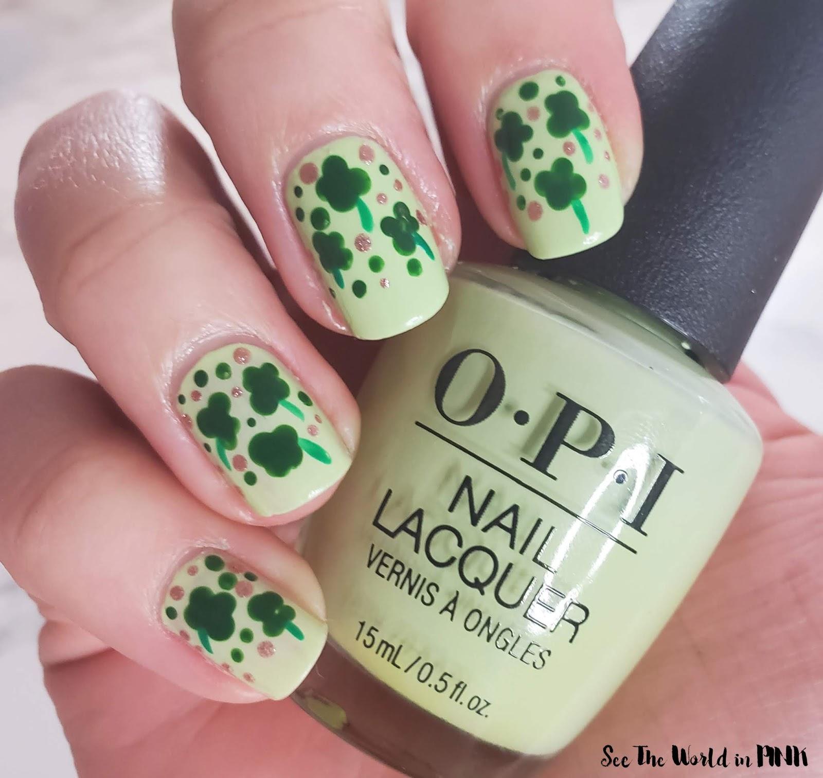 Manicure Monday - St. Patrick's Day Shamrock Dotticure