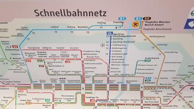 mapa linea s1 y s8 munich